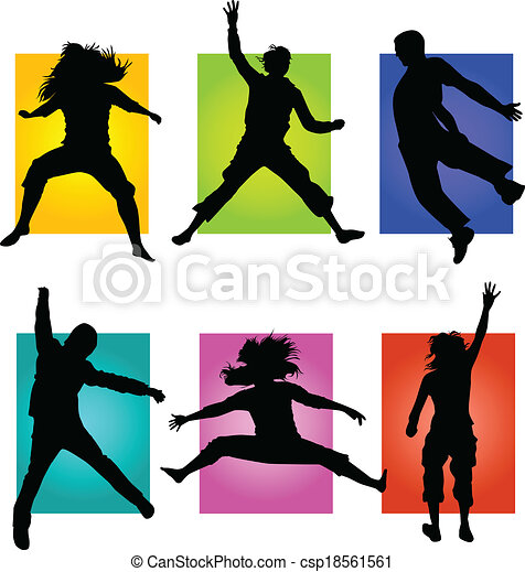people jumping  - csp18561561