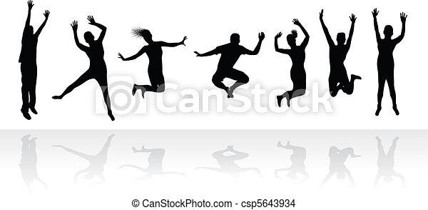people jumping - csp5643934