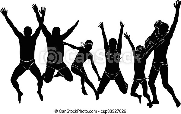 people jumping - csp33327026