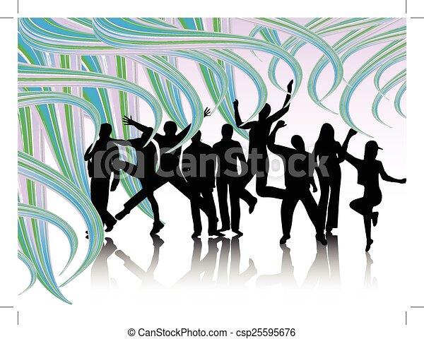 People jumping - csp25595676