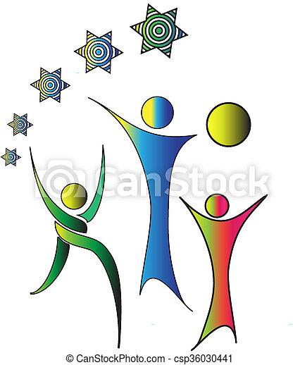 People Logo Design - csp36030441