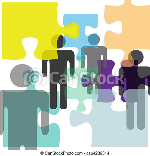 People mental health problem solution puzzle confusion - csp4239514