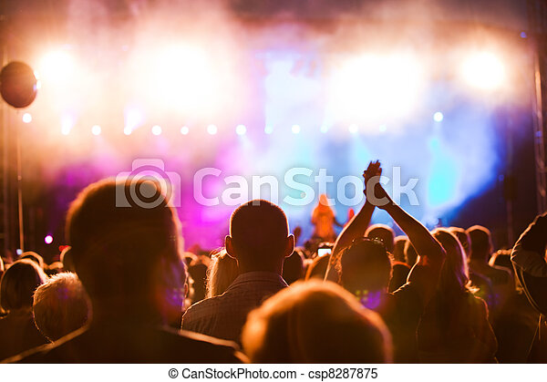 People on music concert - csp8287875