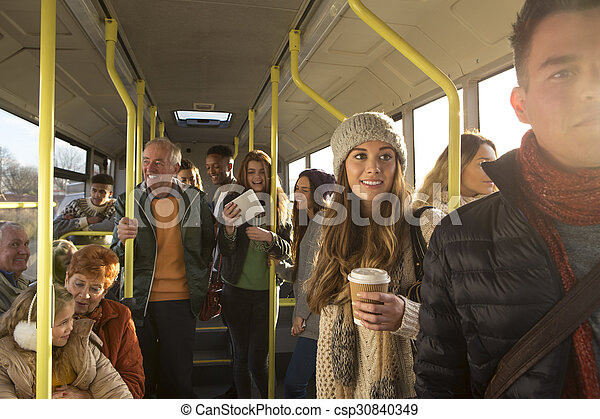 People on the bus - csp30840349