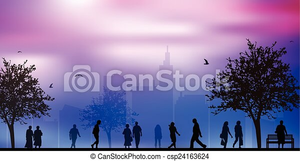 People outdoors - csp24163624