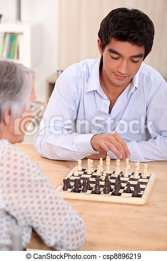 People playing chess - csp8896219