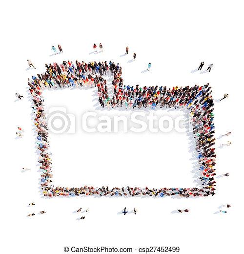 people representing the folder. - csp27452499