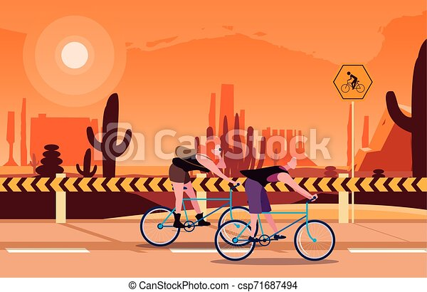people riding bicycle activity image - csp71687494
