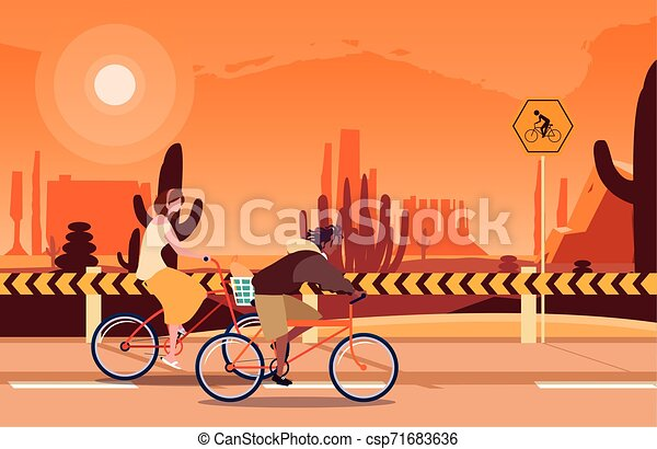 people riding bicycle activity image - csp71683636