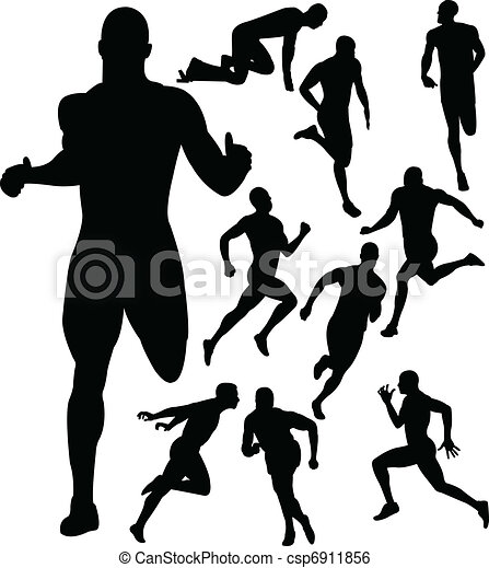 people running silhouettes vector clip art vector search rh canstockphoto com Pregnant Woman Running Women Running Clip Art