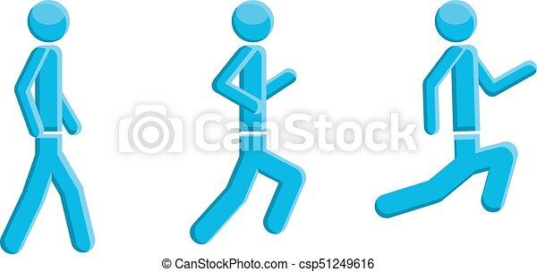 people running walking symbol vector vector clip art search rh canstockphoto com