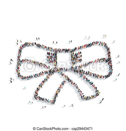 people shape bow tie - csp29443471