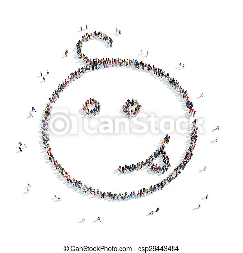 people shape child cartoon - csp29443484