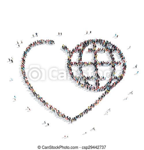 people shape hearts - csp29442737