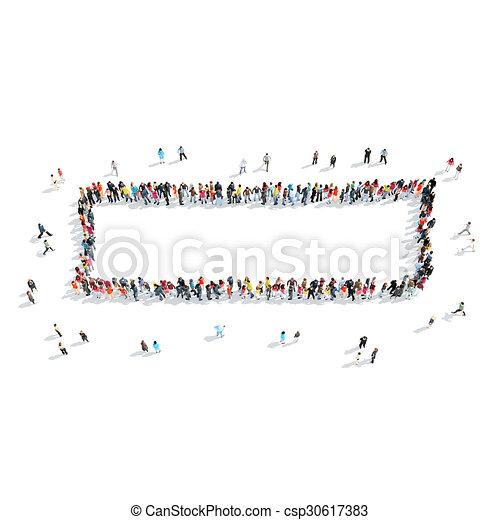 people shape minus cartoon - csp30617383