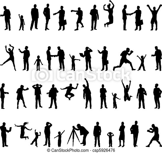 people silhouette - csp5926476