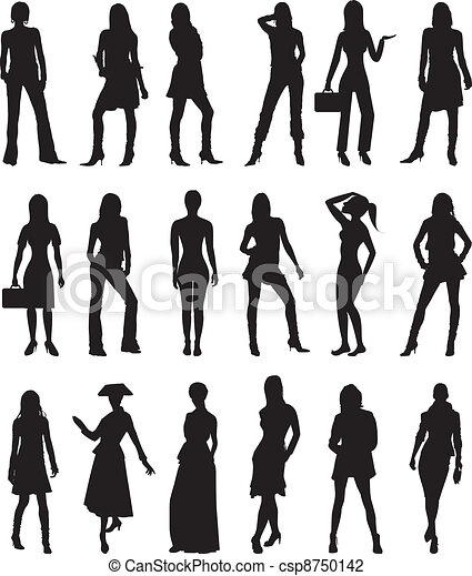 People Silhouettes 2 - csp8750142