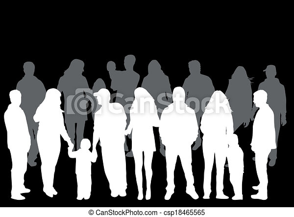 People silhouettes - csp18465565
