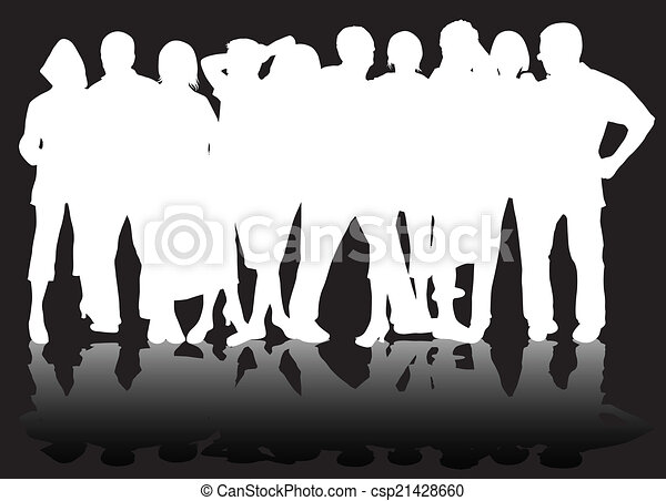 People silhouettes - csp21428660