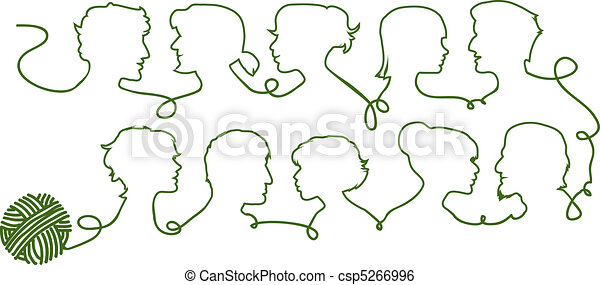 People silhouettes - csp5266996