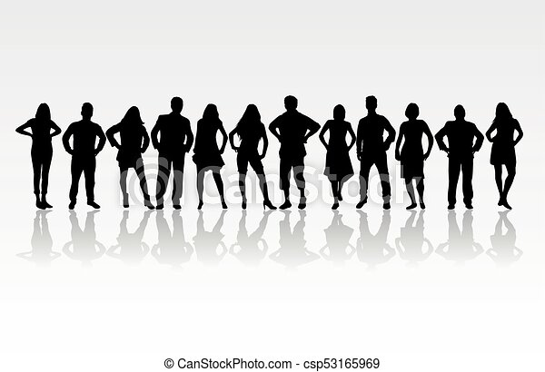 People silhouettes. - csp53165969
