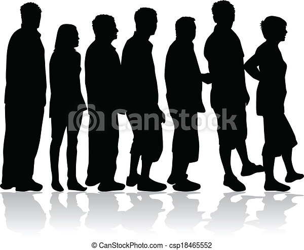 People silhouettes - csp18465552