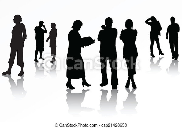 People silhouettes - csp21428658