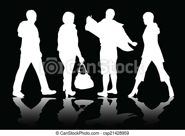 People silhouettes - csp21428959