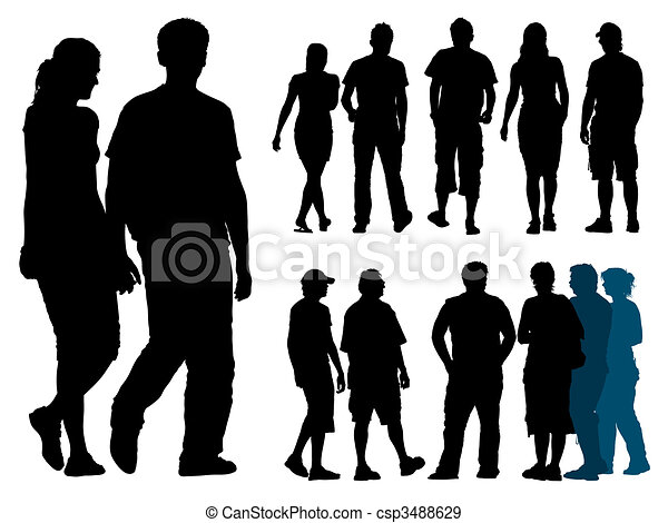 People silhouettes - csp3488629