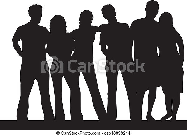 People Silhouettes - csp18838244