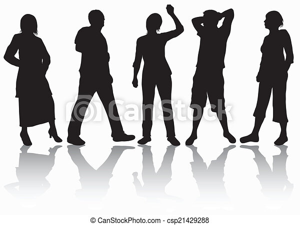People silhouettes - csp21429288