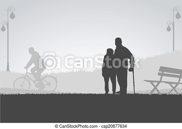 People silhouettes - csp20877634