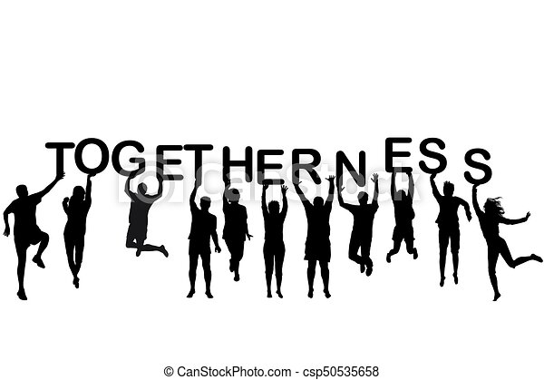 People silhouettes holding let...
