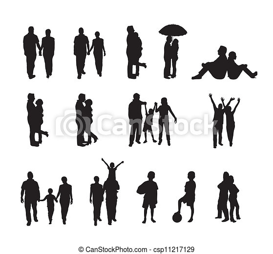 people silhouettes - csp11217129