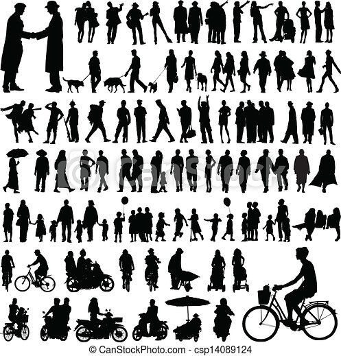 People silhouettes - csp14089124