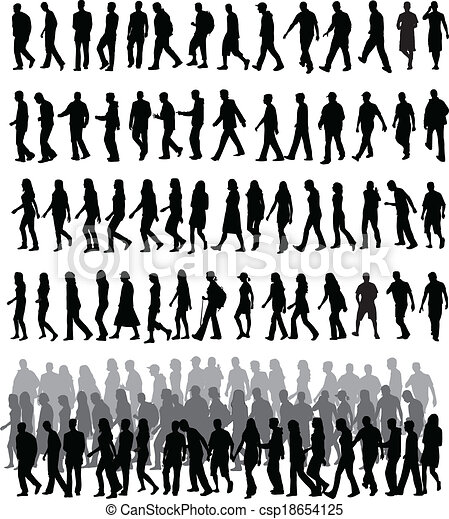 people silhouettes - csp18654125
