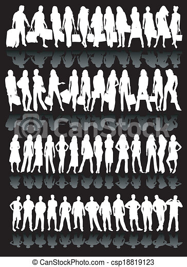 People silhouettes - csp18819123