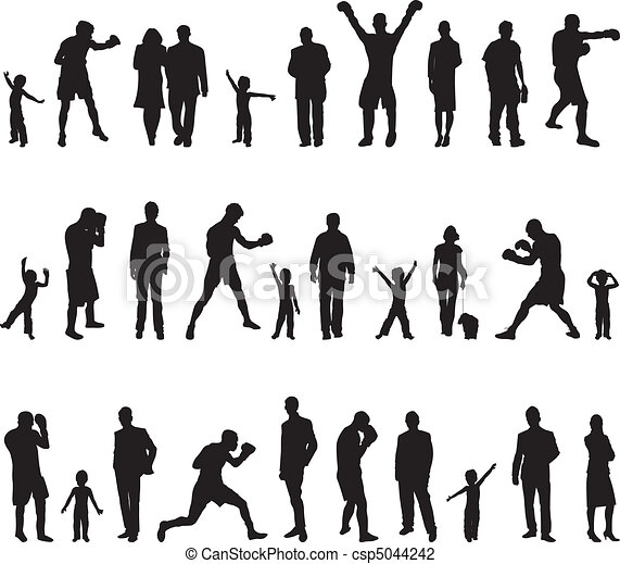 people silhouettes - csp5044242