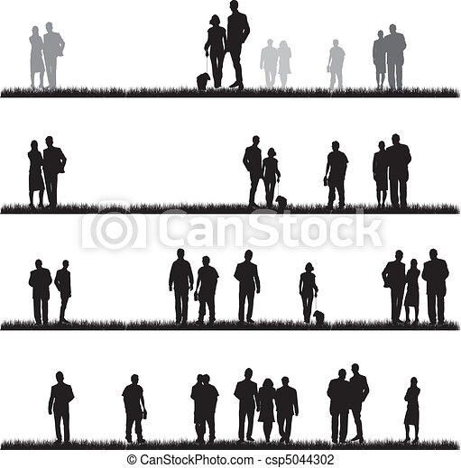 people silhouettes - csp5044302