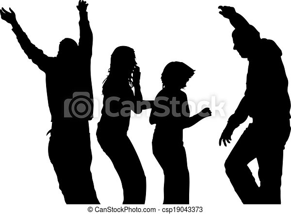 People silhouettes - csp19043373