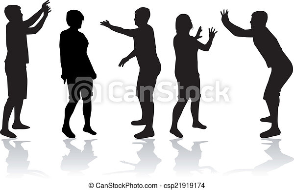 People silhouettes - csp21919174