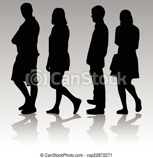 people silhouettes - csp22872271