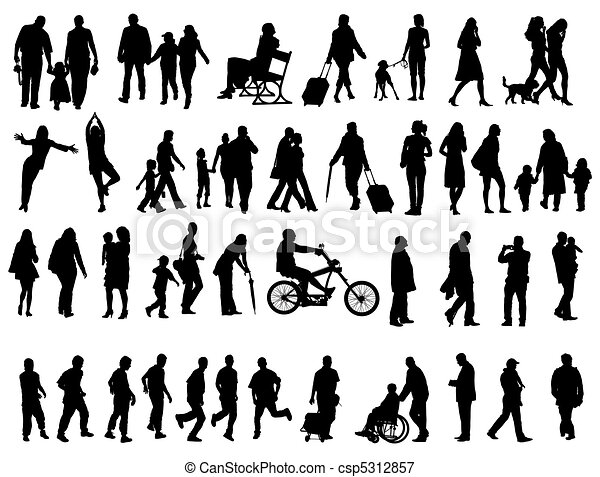 People silhouettes - csp5312857