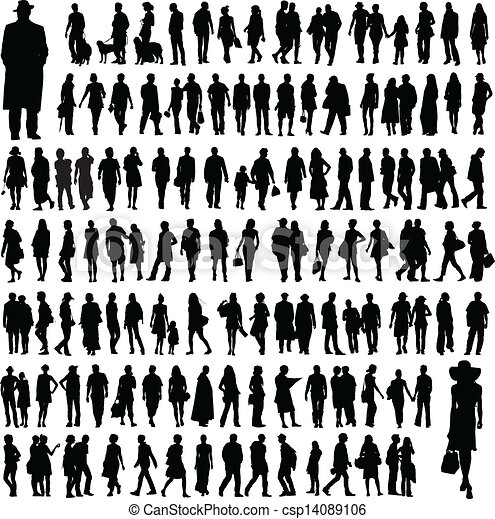 People silhouettes - csp14089106
