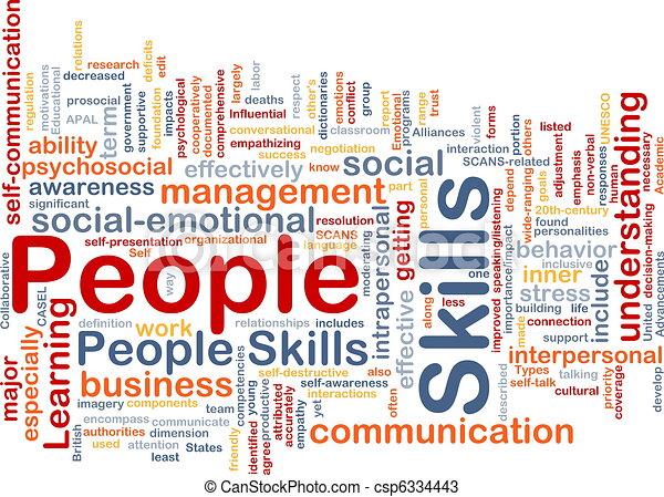 People skills background concept - csp6334443