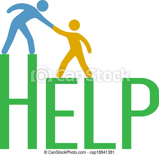 People step up find support help answer - csp18841381