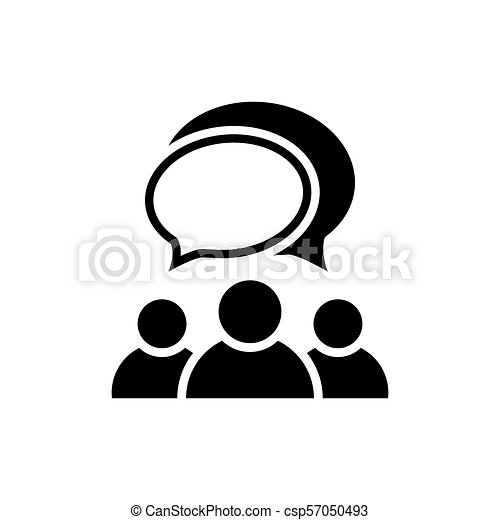 People talking icon. Group of people symbol - csp57050493