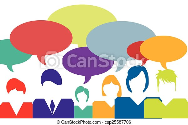 people talking vector illustration rh canstockphoto com People Talking to People People Talking On the Phone