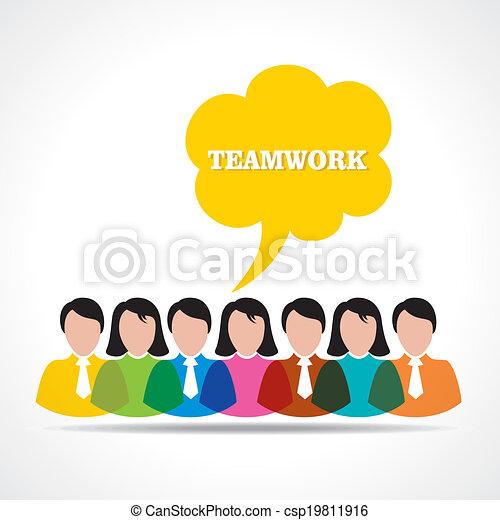 people teamwork concept  - csp19811916