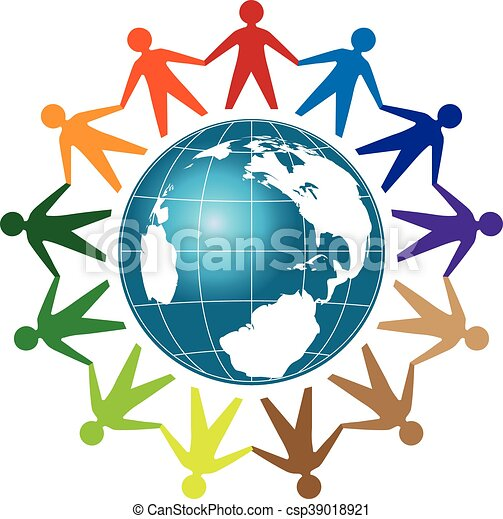 people unity logo people unity with earth globe template vector rh canstockphoto com free vector illustrations for designers free vector illustrations nature